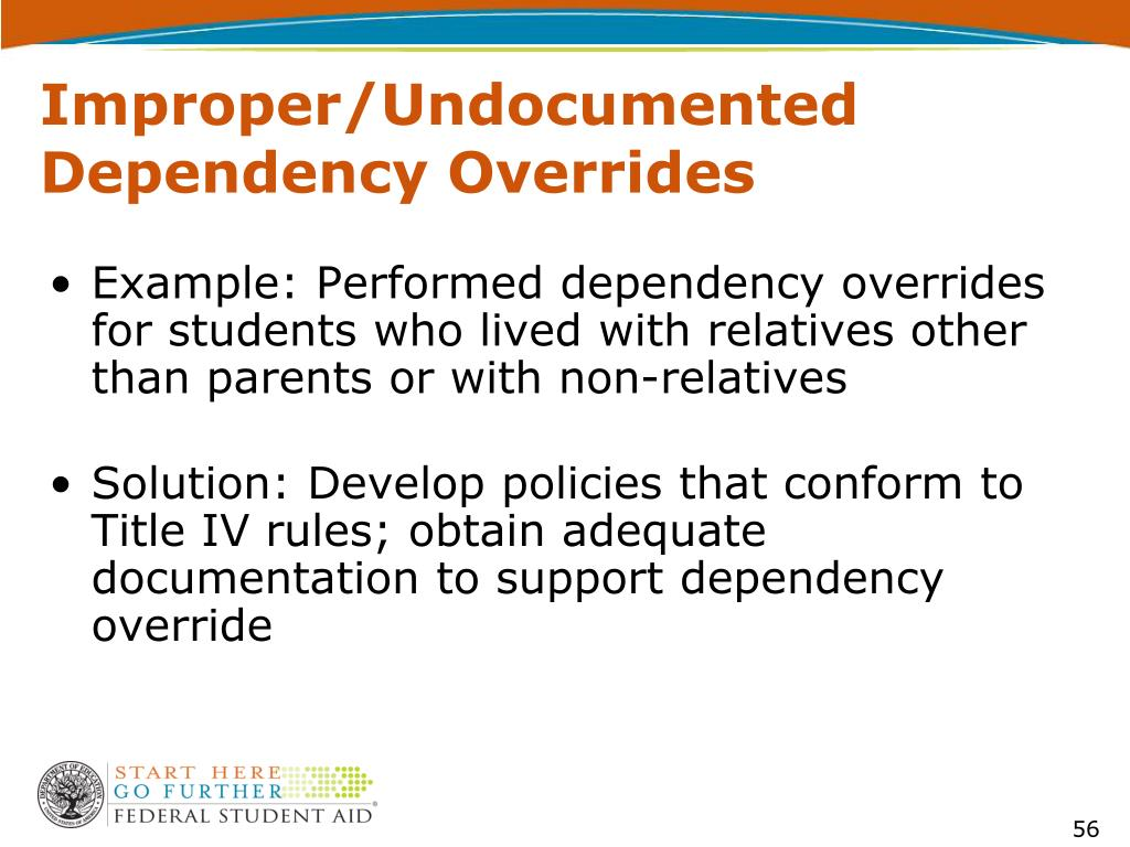 Improper/Undocumented Dependency Overrides
