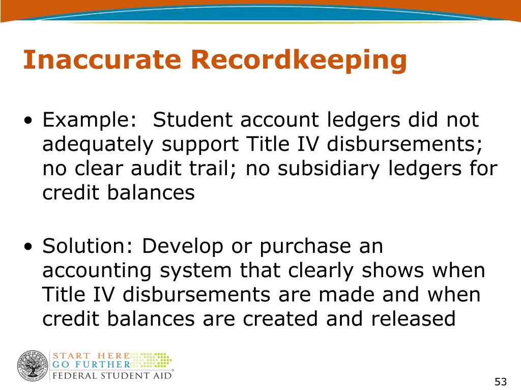 Inaccurate Recordkeeping