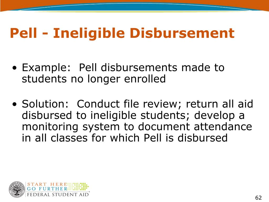Pell - Ineligible Disbursement