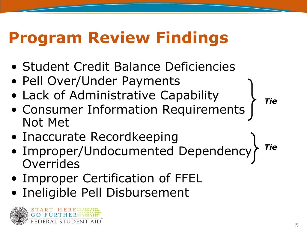 Program Review Findings