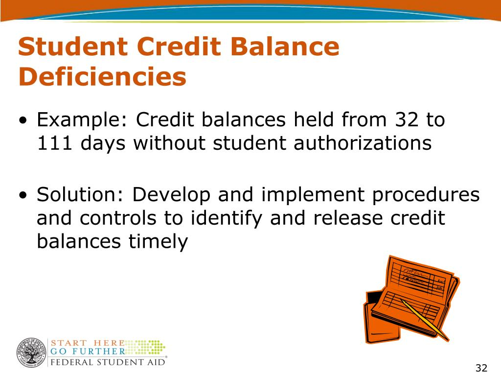 Student Credit Balance Deficiencies