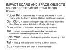 impact scars and space objects sources of extraterrestrial debris comets
