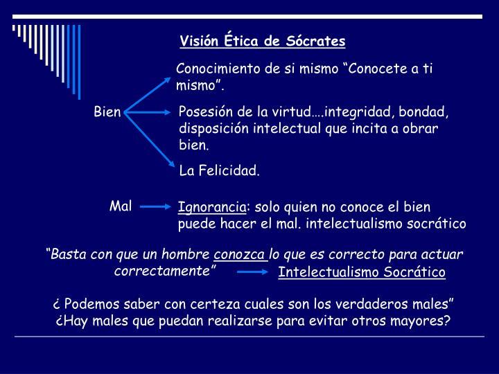 Visión Ética de Sócrates