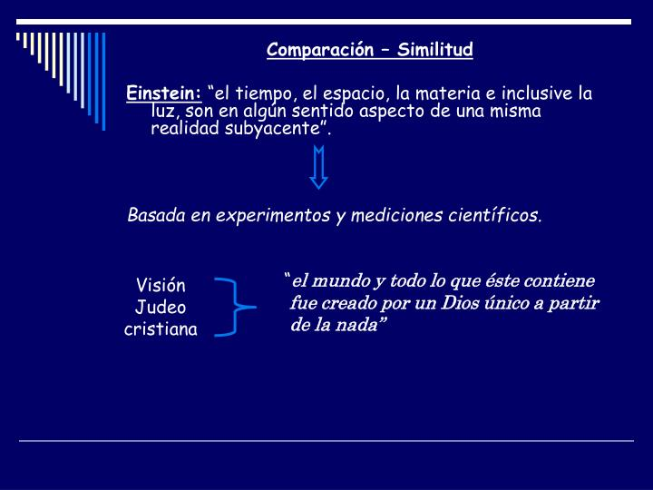 Comparación – Similitud