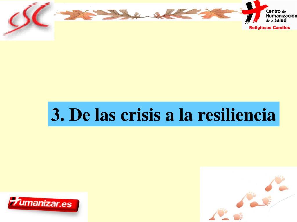 3. De las crisis a la resiliencia