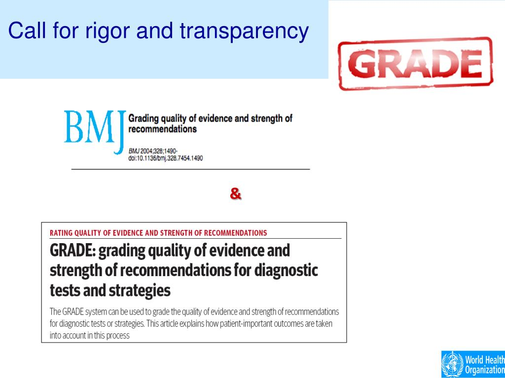 Call for rigor and transparency