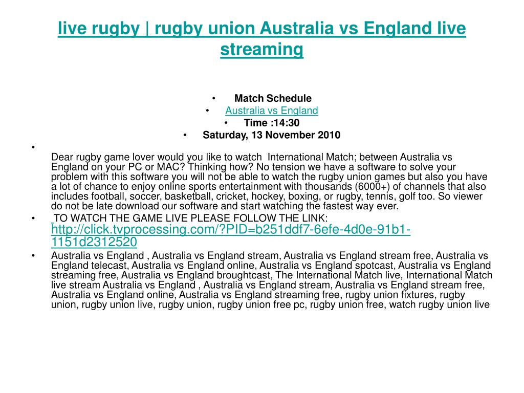 live rugby | rugby union Australia vs England live streaming