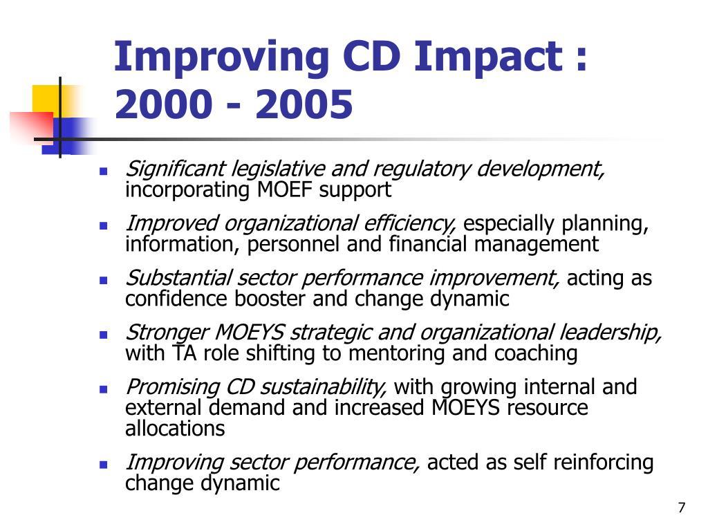 Improving CD Impact :