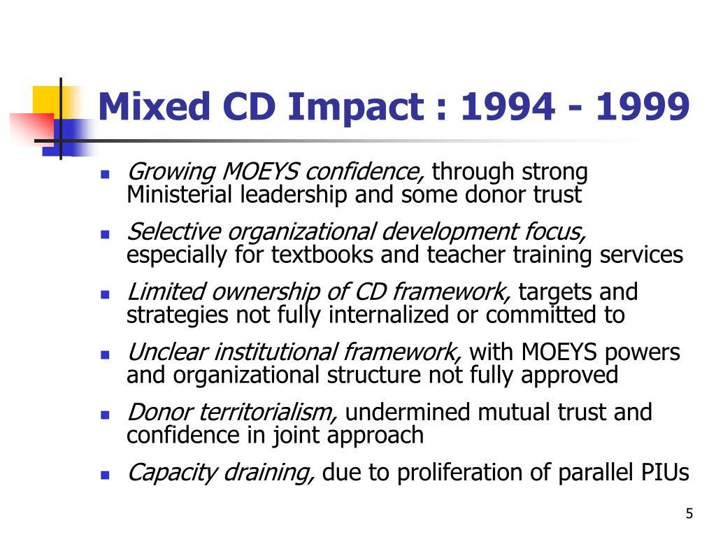 Mixed CD Impact : 1994 - 1999