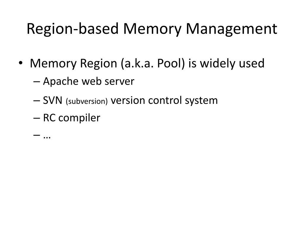 Region-based Memory Management