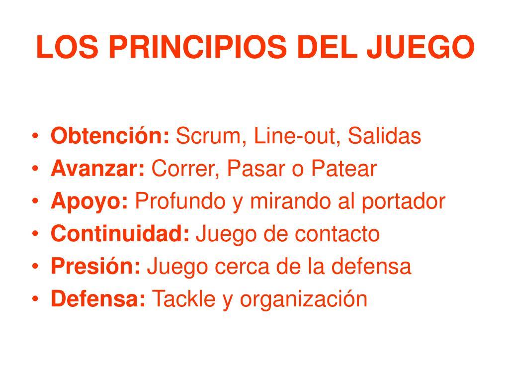 LOS PRINCIPIOS DEL JUEGO