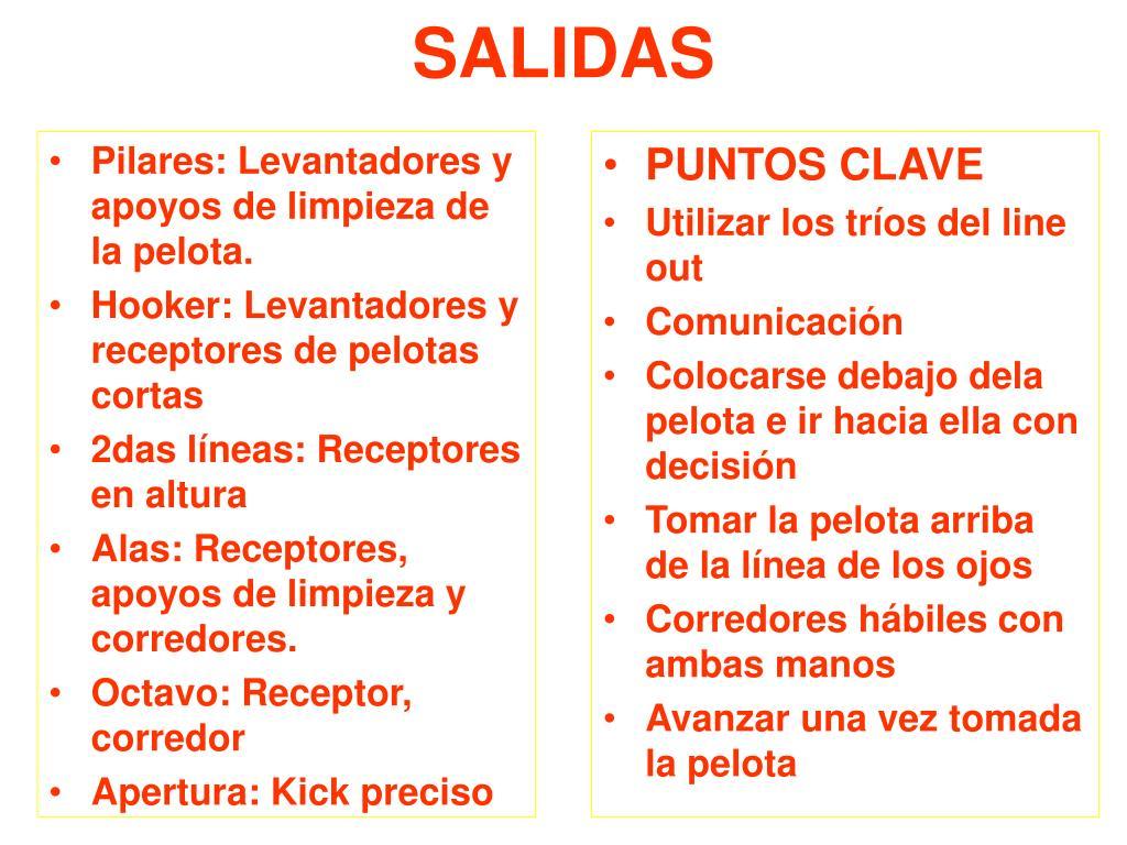 Pilares: Levantadores y apoyos de limpieza de la pelota.
