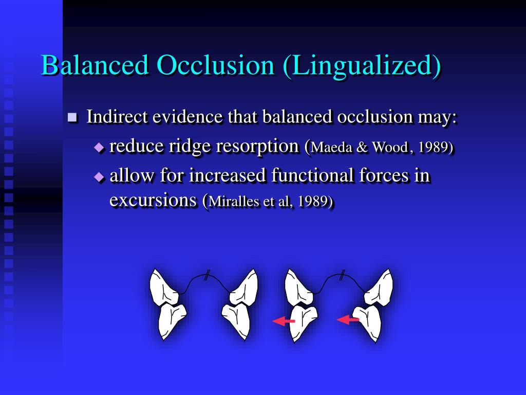 Balanced Occlusion (Lingualized)