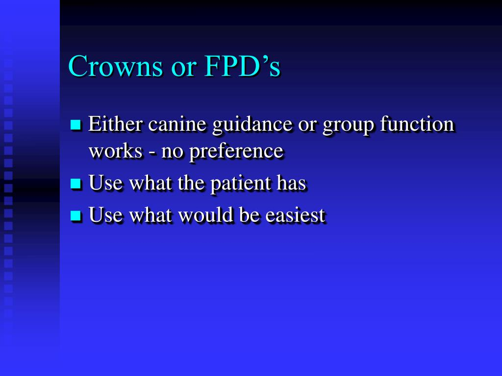 Crowns or FPD's