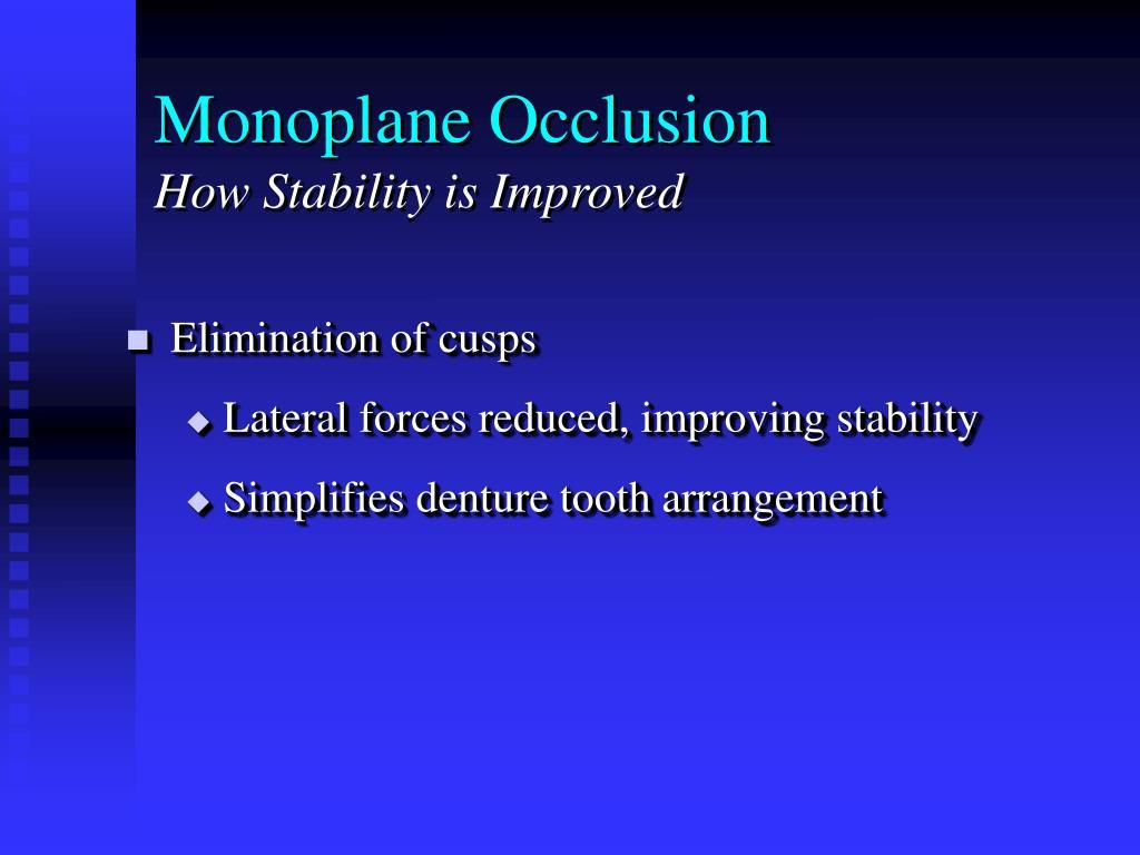 Monoplane Occlusion