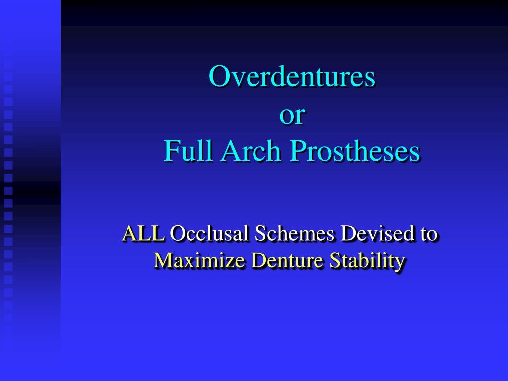 Overdentures