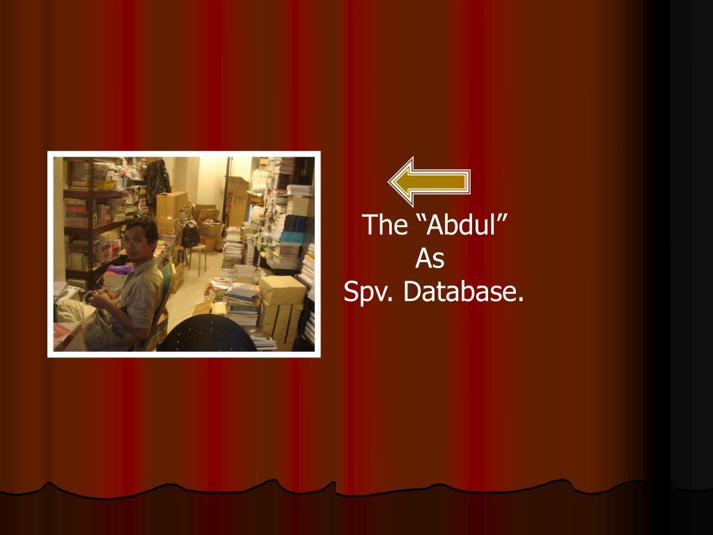 """The """"Abdul"""""""