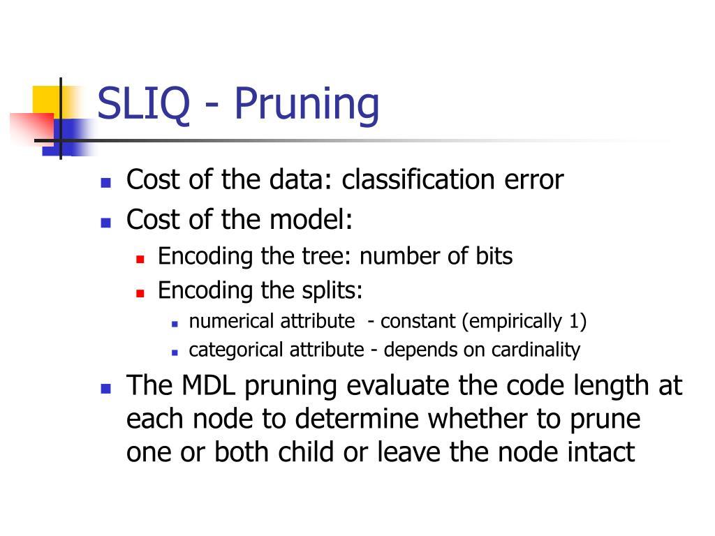 SLIQ - Pruning