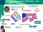 corporate corruption misconduct and tragedy