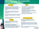 four records management program principles