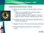 post 9 11 legislative factors usa patriot act