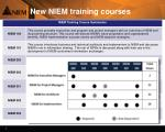 new niem training courses
