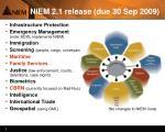 niem 2 1 release due 30 sep 2009