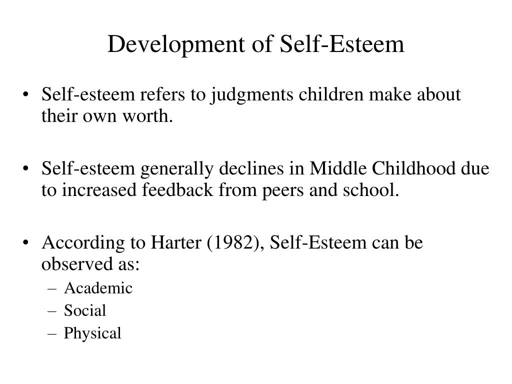 self esteem and child development essay