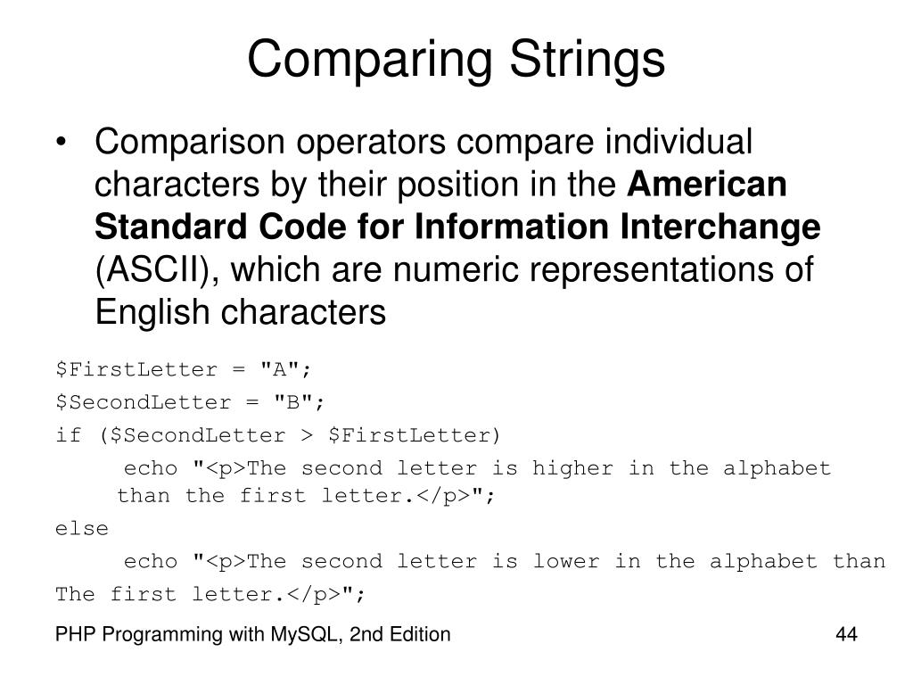 Comparing Strings