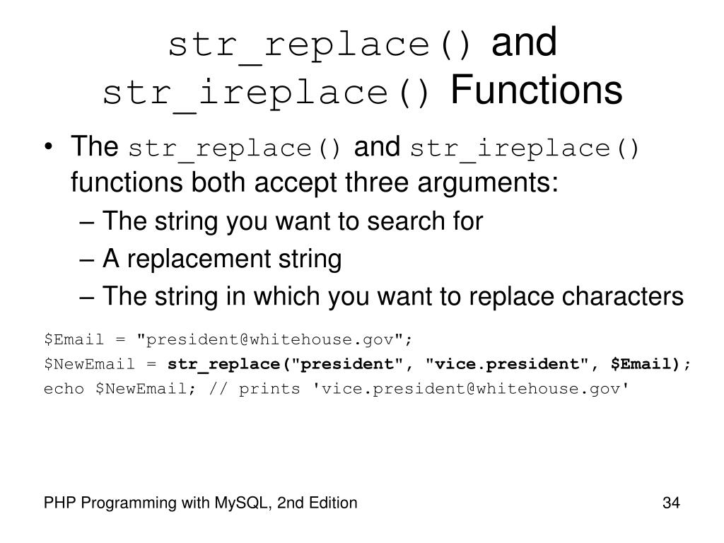 str_replace()