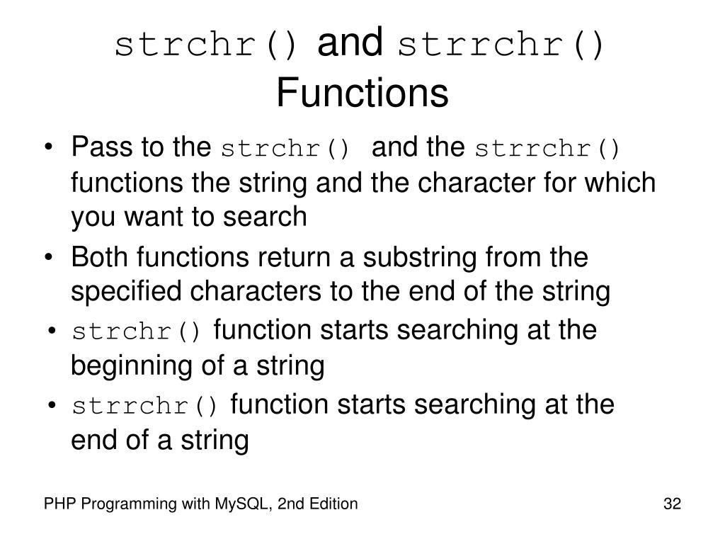 strchr()