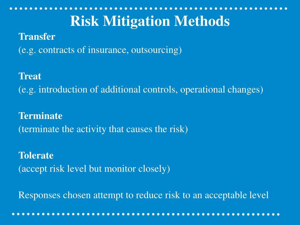 Risk Mitigation Methods