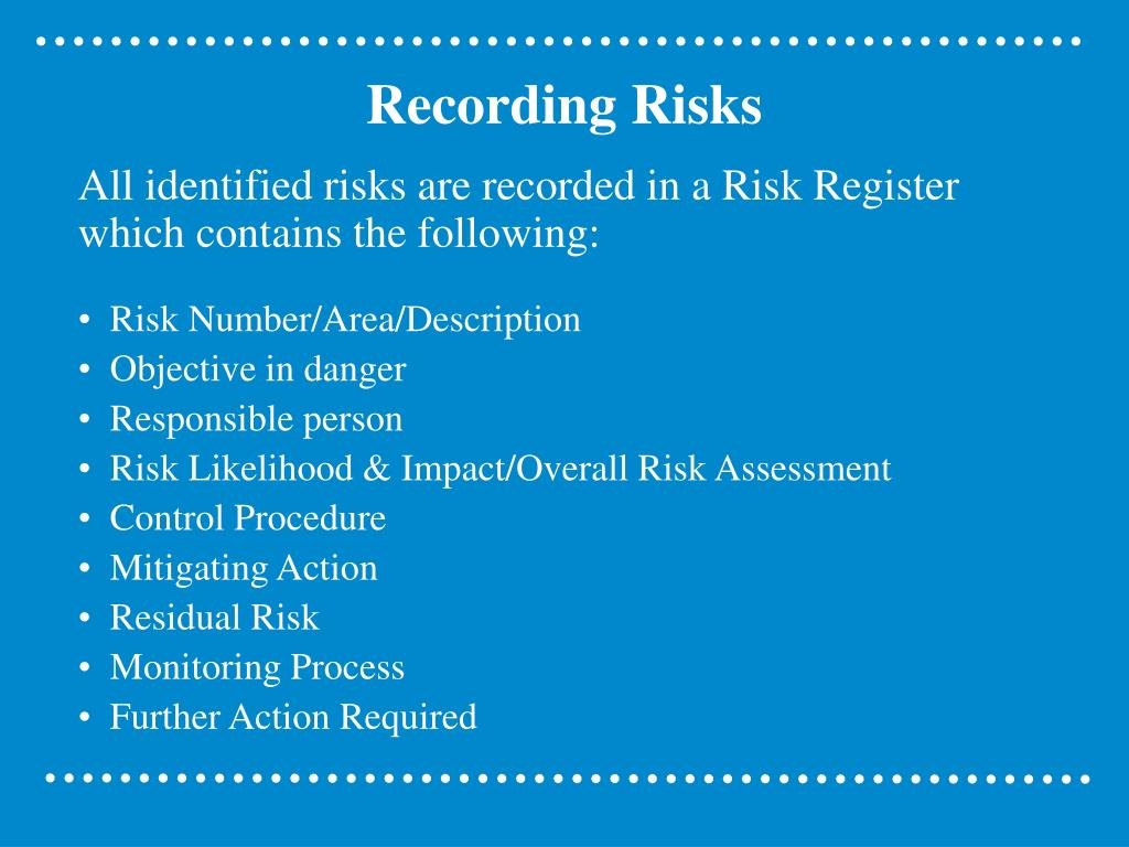 Recording Risks