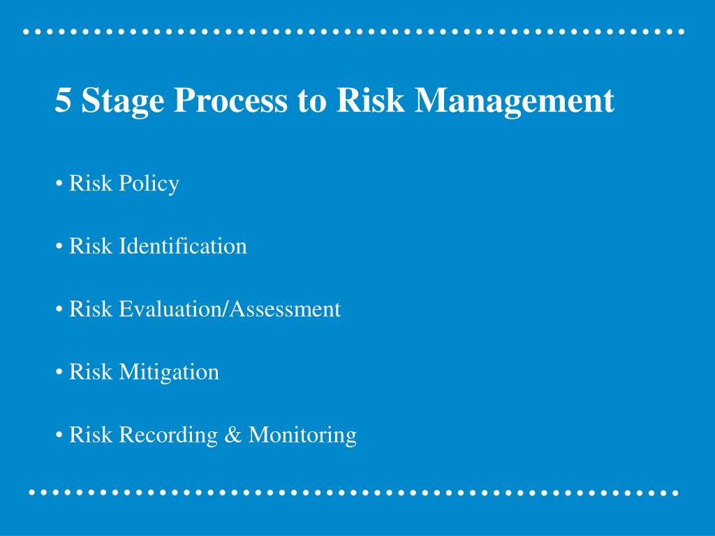 5 Stage Process to Risk Management