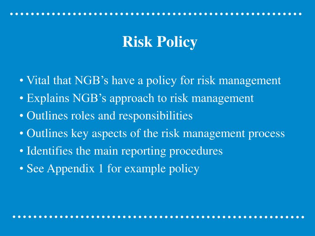 Risk Policy