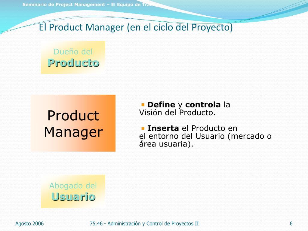 Seminario de Project Management – El Equipo de Trabajo