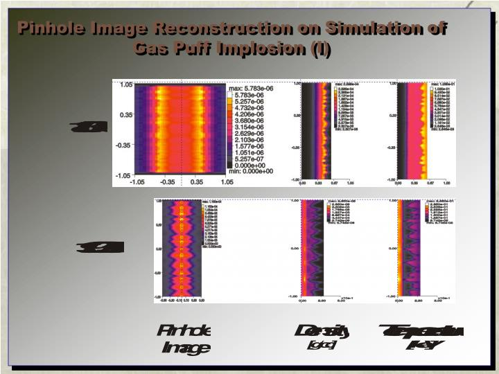 Pinhole Image Reconstruction on Simulation of
