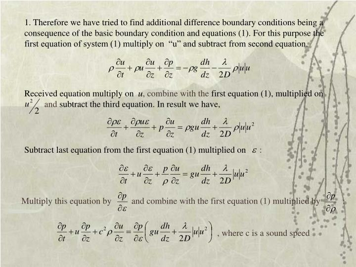 Received equation multiply on