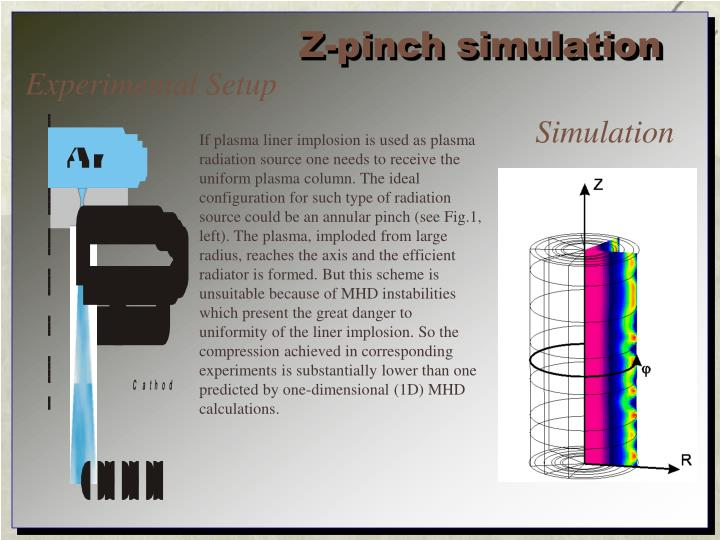 Z-pinch simulation
