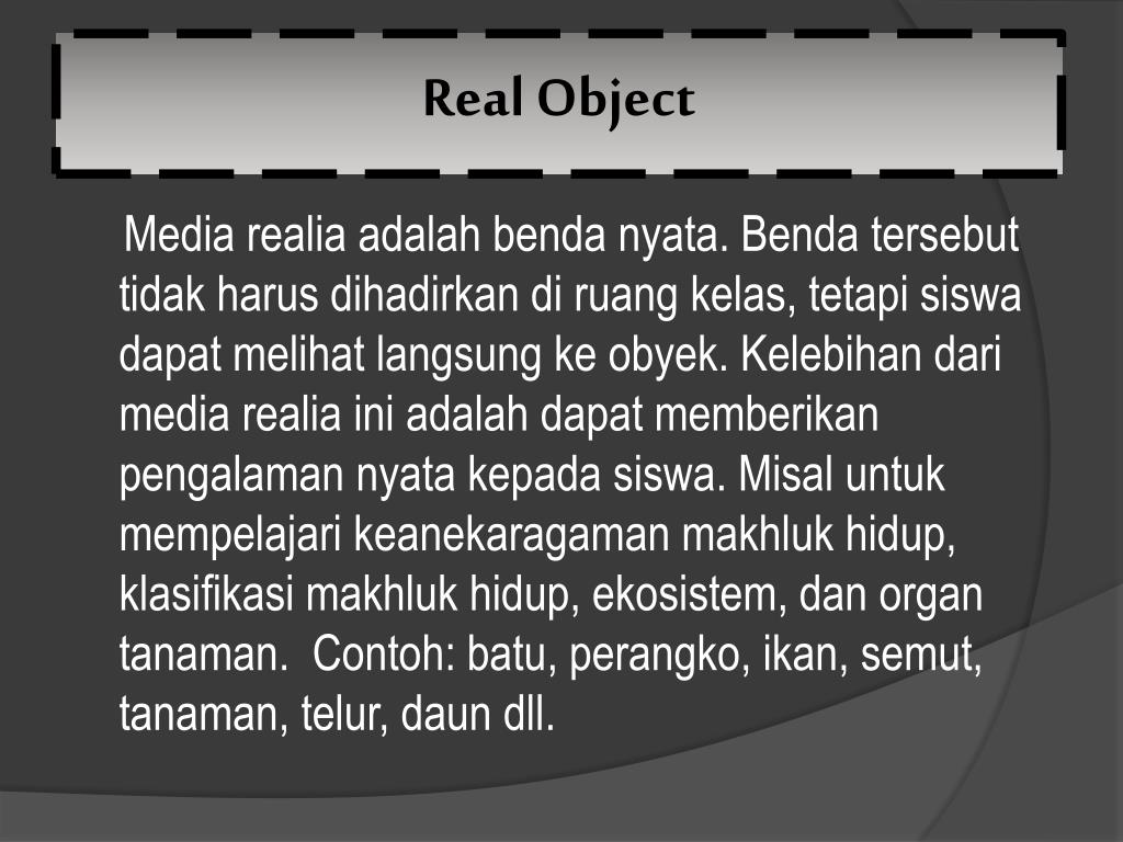 Real Object