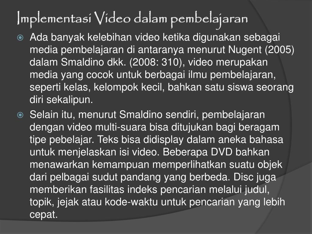 Implementasi Video dalam pembelajaran