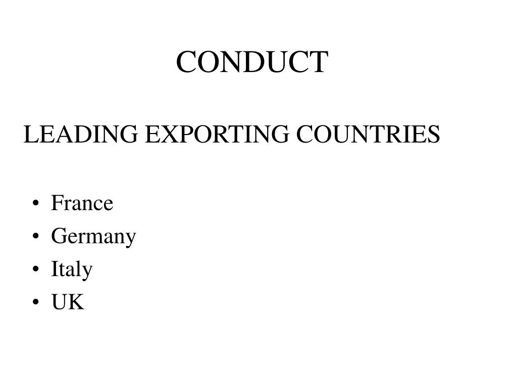 LEADING EXPORTING COUNTRIES