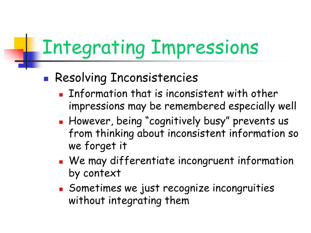 Integrating Impressions