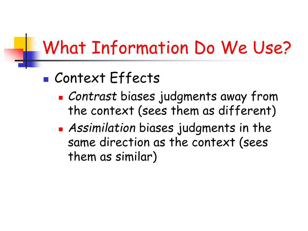 What Information Do We Use?