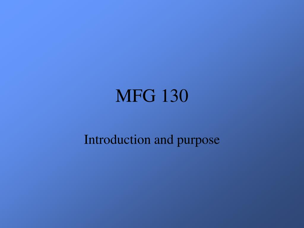 MFG 130