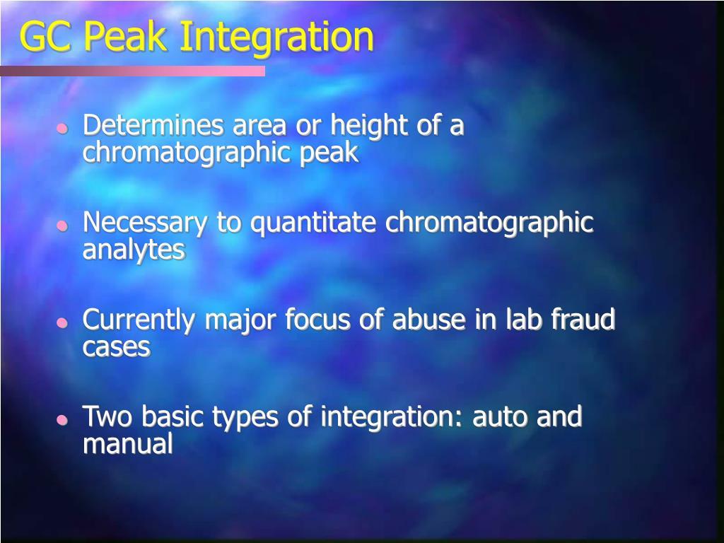 GC Peak Integration