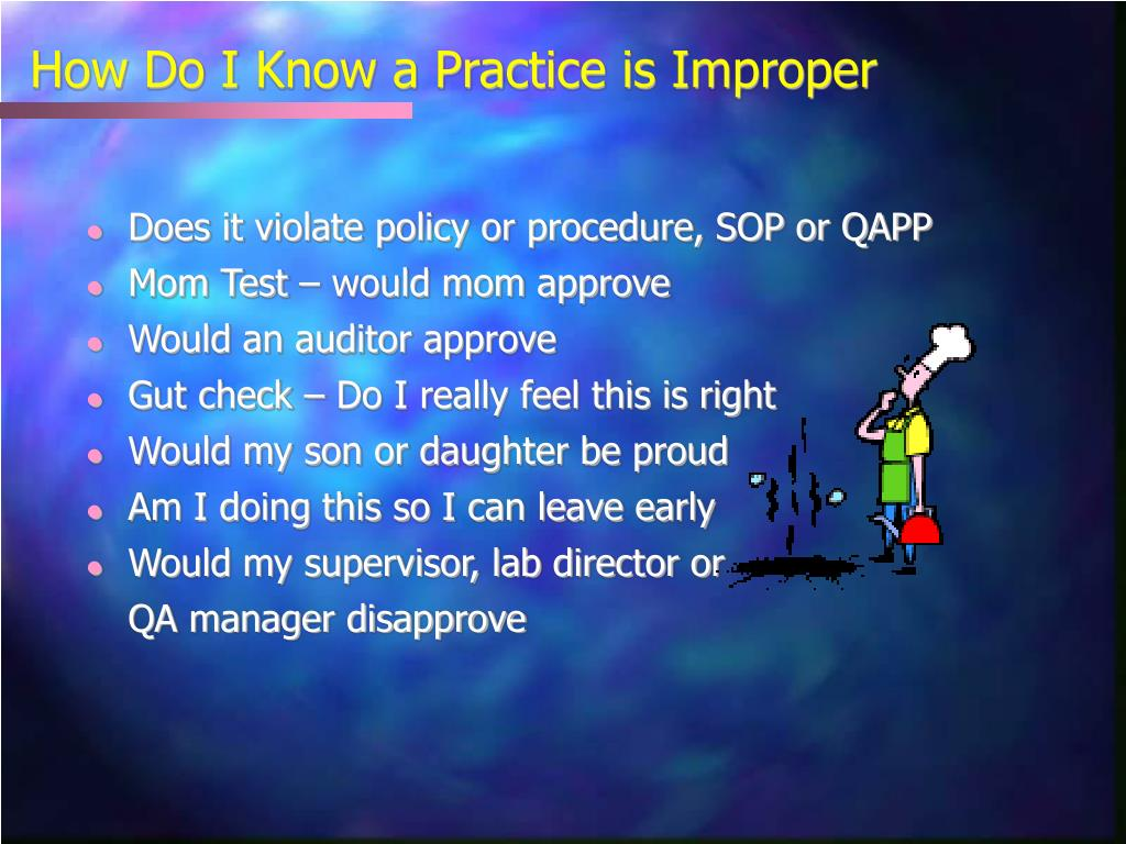 How Do I Know a Practice is Improper