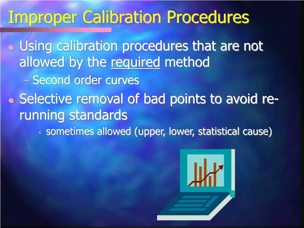 Improper Calibration Procedures