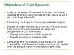 objectives of field research