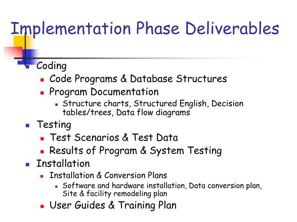 what are the deliverables from coding testing and installation What is a key deliverable in this lesson, we'll learn about the major steps in project management, how key deliverables fit into the bigger.